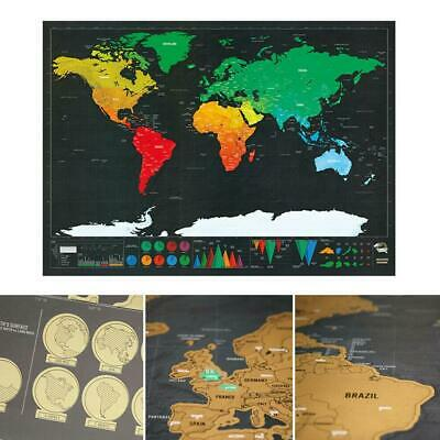 Scratch Off Map Deluxe World Mini Personalized Travel Poster Travel Atlas modern