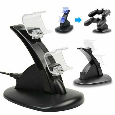 Hot For PlayStation PS4 Controller Charger Dock Station Fast Charging Stand EU