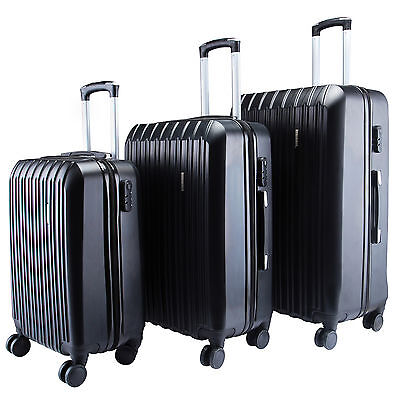 Suitcase ABS 3Pcs Luggage Travel Set Bag Trolley Spinner Expandable w/TSA Lock