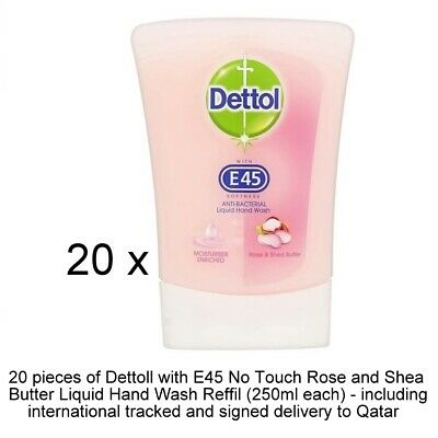 Dettoll No-Touch-Rose and Shea Butter Hand Wash Refill 20x250ml + Int. Delivery