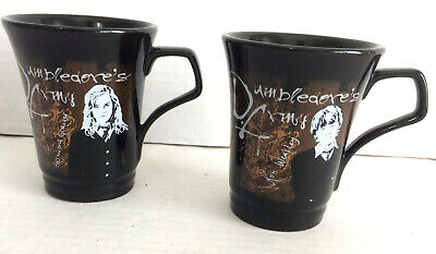 """2 Neca Mugs Harry Potter Dumbledore's Army Ron Weasley Hermione Granger 3.5"""""""