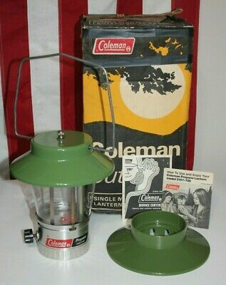 Vintage Coleman Single Mantle Propane Lantern 5107-708 1974 with Box and Manual