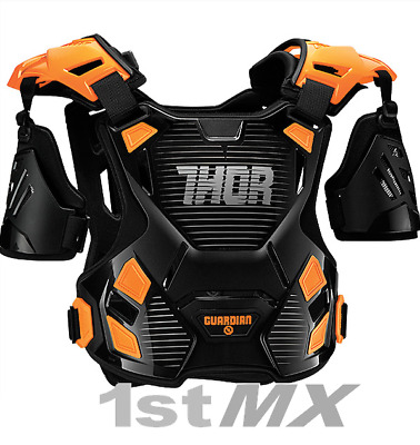 Thor Guardian Motocross OffRoad Chest Protector Armour Orange Youth Small Medium