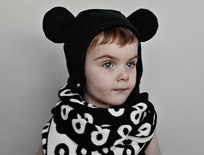 Brand New with tags Beau Loves black bear hat for girls and boys in size medium