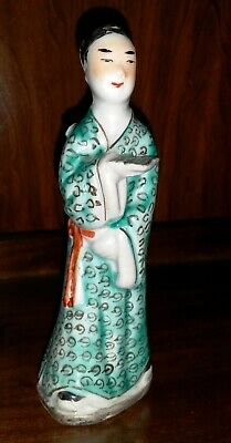 Antique Chinese Porcelain Famille Rose Scholar Figurine Statue