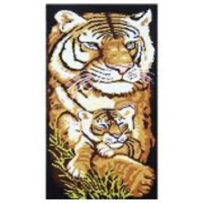 "Latch Hook Rug Kit""Mother and Baby Tiger"" 113x45cm"