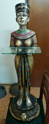 Egyptian 110cm tall Queen Nefertity hand Made In Egypt with a glass plate shelve