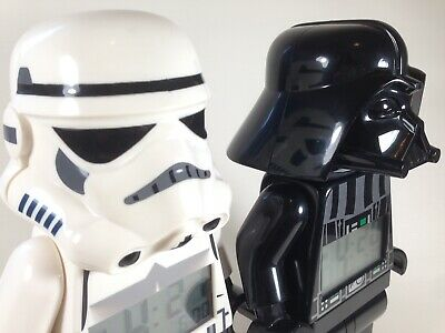 Star Wars Lego Alarm Clock Pair Darth Vader and Storm Trooper