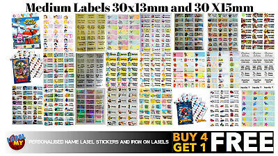 Personalised School Name Label Stickers -  (30x13 or 30x15mm) QTY 96 Waterproof