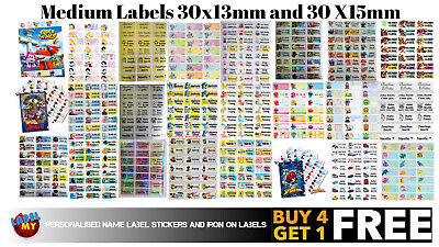 Personalised Name Sticker Label for Pencil Case Ruler School Book Bottle Box Tin