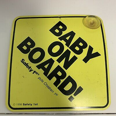 Bany On Board Yellow Car Sign