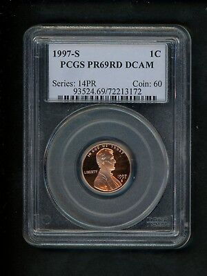 1997-S US Lincoln Memorial Cent 1c .01 PCGS PR69 RD DCAM Red Proof Deep Cameo