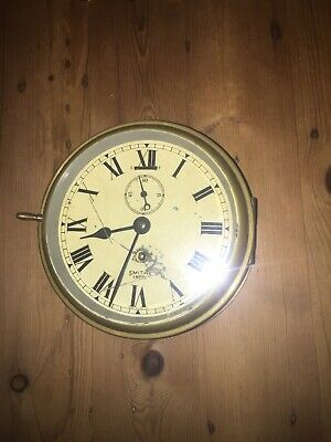 Antique Authentic Brass Smiths Empire Ships Clock