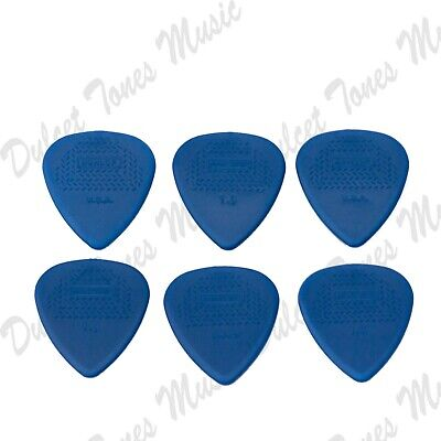 6 x Dunlop Max-Grip Nylon HEAVY 1.14 mm Guitar Picks Plectrum *1ST CLASS POST*