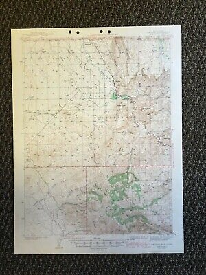 Vintage USGS Owyhee Nevada Idaho 1942 Topographic Map
