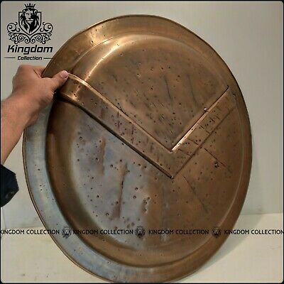 Medieval 300 Spartan Shield Dark Antique Brass Finish Special Edition Best Gift