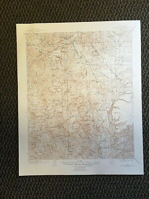 Vintage USGS Bradshaw Mountains Arizona 1903 Topographic Map 1946