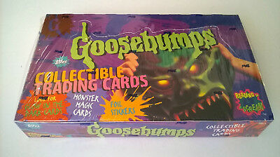 1996 Topps Goosebumps Collectible Trading Card Box 36 Count Packs Factory Sealed