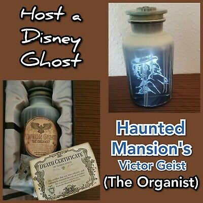 Victor Geist Disney Park Haunted Mansion 50th Host a Ghost Spirit Jar Passholder