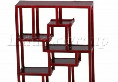Rosewood Color Dollhouse Miniature Mini 2-Door 1-Drawer Chinese Cabinet 1:25 ABS