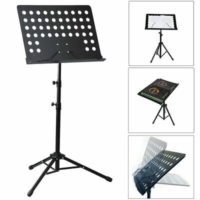 Heavy Duty Foldable Music Stand Holder Base Tripod Orchestral Sheet Black Uk