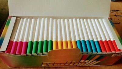 400 ROLLO ACCENT REGULAR 8mm CIGARETTES TUBE with colored tips