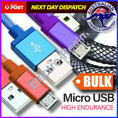 Micro USB Charging Cable Braided Charger For Samsung S7 S6 EDGE Android HTC OPPO