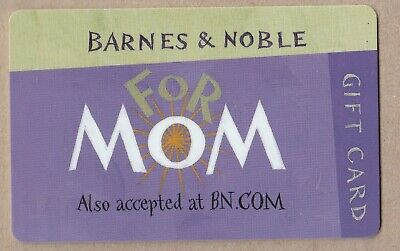 Barnes & Noble no value collectible gift card mint #09 For Mom