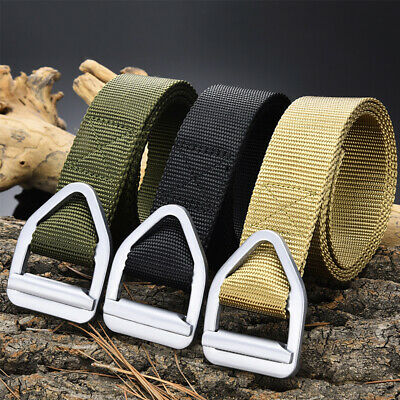Men's Alloy Triangle Buckle Belts Outdoors Tactics Military Belts Canvas Weaving