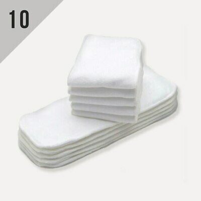 KaWaii Baby Super Absorbent Stay-Dry Microfiber Inserts Soaker Pads (10/Pack)