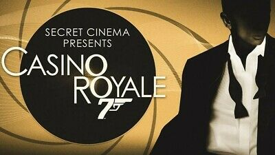 CASINO ROYALE Secret Cinema x1 Ticket _ London Sunday 8th September