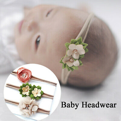 3Pcs/Set Baby Infant Head Band Hair Bows Flower Hairband Kids Stretch Headband
