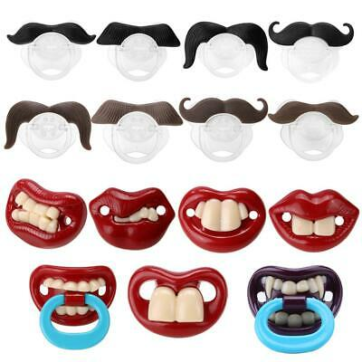 Baby Newborn Infant Funny Mustache Pacifier Binky Pacifiers Soothers