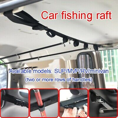 AU Car Fishing Rod Rack Carrier Reel Combos Pole Holder Horizontal Mount Belts