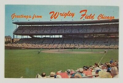 Postcard Greetings From Wrigley Field Chicago Cubs Baseball Illinois