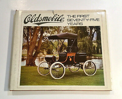 """1972 """"Oldsmobile - The First Seventy-Five Years"""" Book with Dust Jacket"""