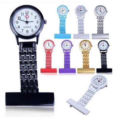 Stainless Steel Gold Nurse Watch Brooch Tunic Fob Quartz Watches Pocket Pendant