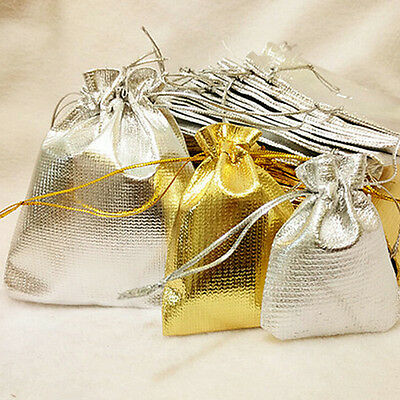 10//20//50 Pcs Organza Wedding Party Favor Candy Bag Jewelry Packing Gift Bags F/_X