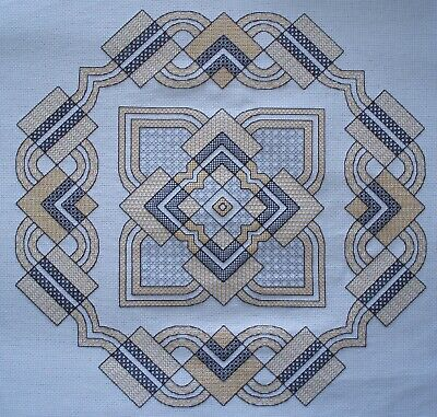 KL204 Art Deco Geometric Blackwork Kit designed by Goldleaf Needlework