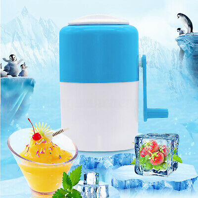 Ice Crusher Maker Shaver Portable Household Snow Cone Crushing Hand Cran Manual