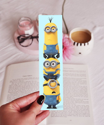 Minions - Laminated Bookmark - Fun Cute Despicable Me - Great Gift For Kids