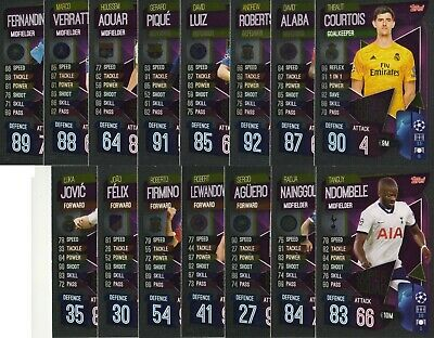 Topps Match Attax 2019/2020 19 20 Full set of 15 Super Squad cards