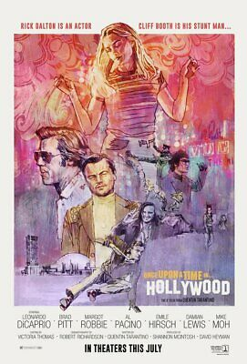 ONCE UPON A TIME IN HOLLYWOOD - Affiche de film / Poster Cinéma - Dicaprio