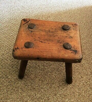 19th century primitive Welsh milking stool