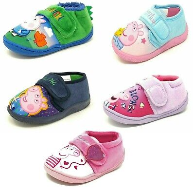 Kids/Childrens Peppa Pig/George Slippers Booties Girls Boys Mules Size 5-10