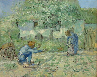Vincent Van Gogh First Steps After Millet Giclee Canvas Print Paintings Poster