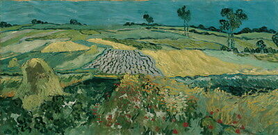 Vincent Van Gogh The Plain Of Auvers Giclee Canvas Print Paintings Poster