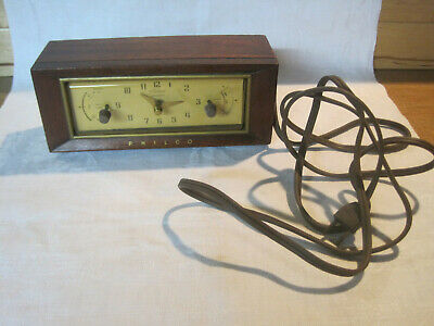 Vintage Philco Automatic Timer Clock model At-200 Telechron movement for repair