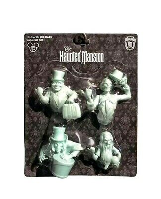 Disney Parks Haunted Mansion Magnet Set glow in the dark ghosts new