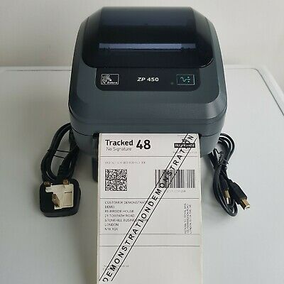 USED ZEBRA GK420D Direct Thermal ETHERNET AND USB Printer